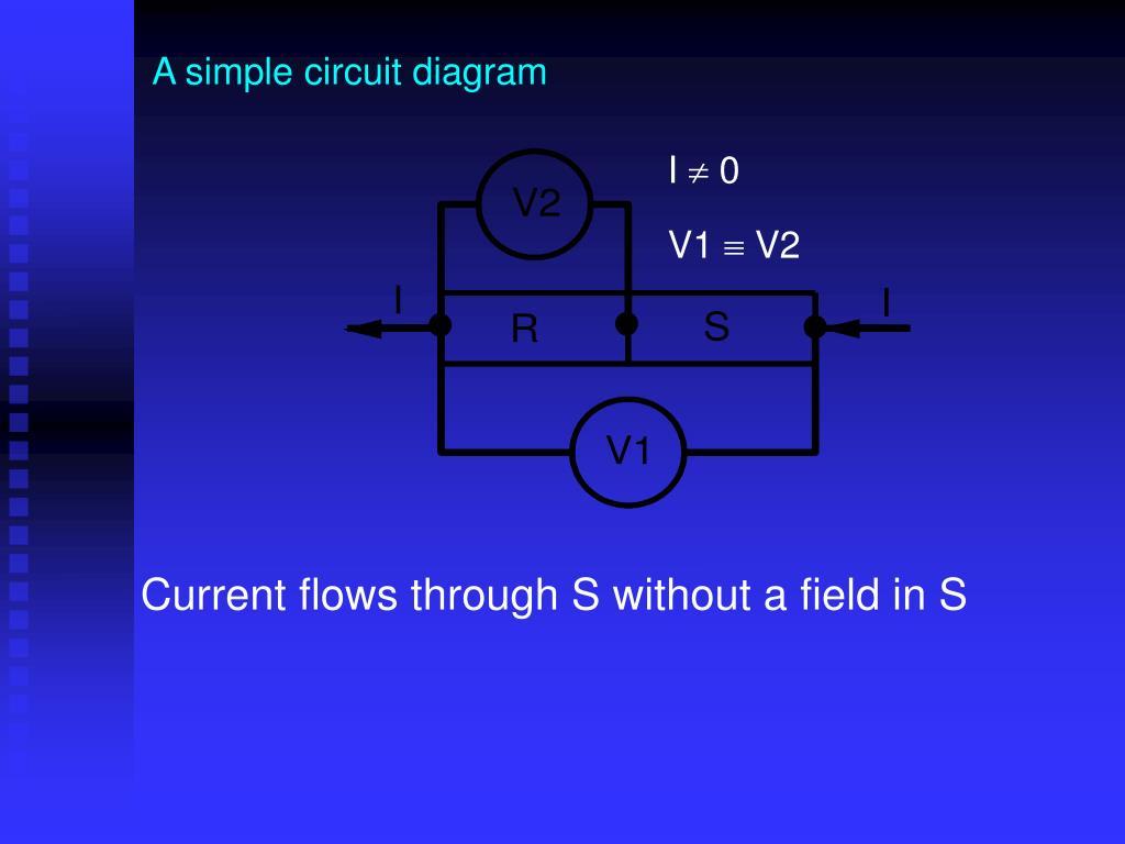 A simple circuit diagram