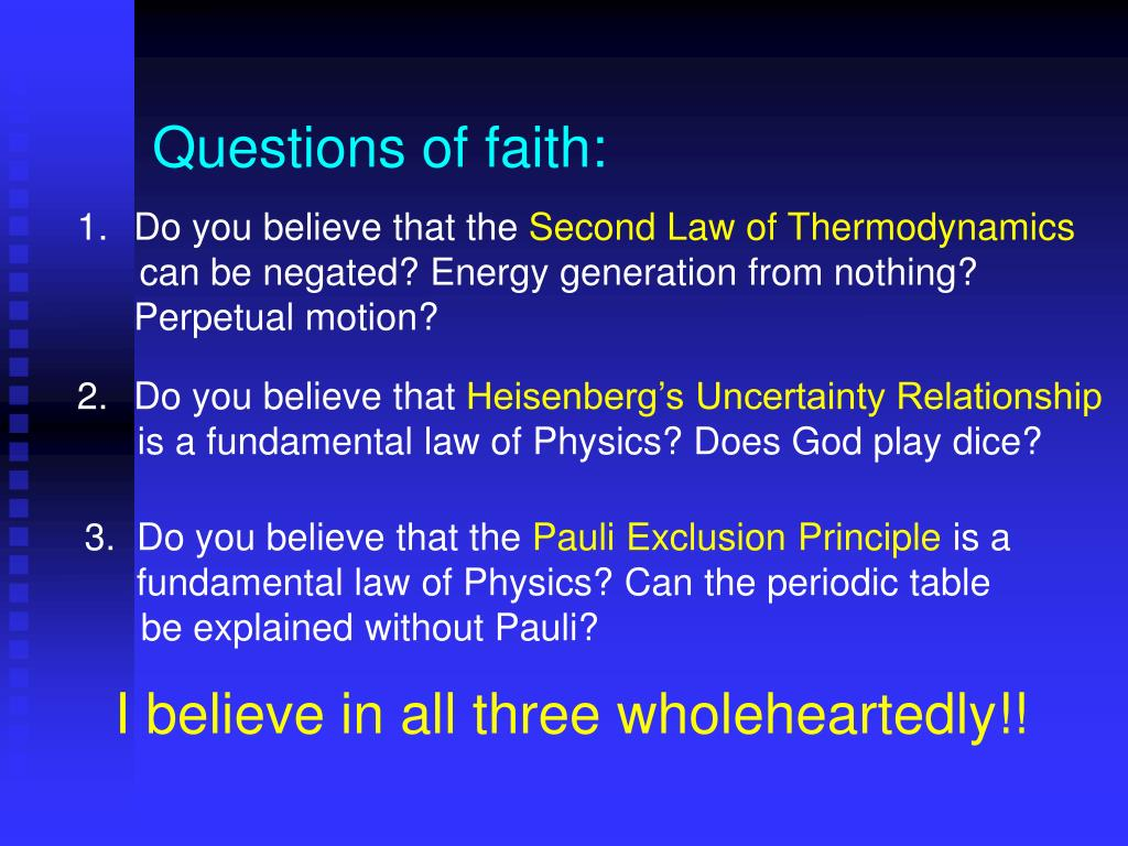 Questions of faith: