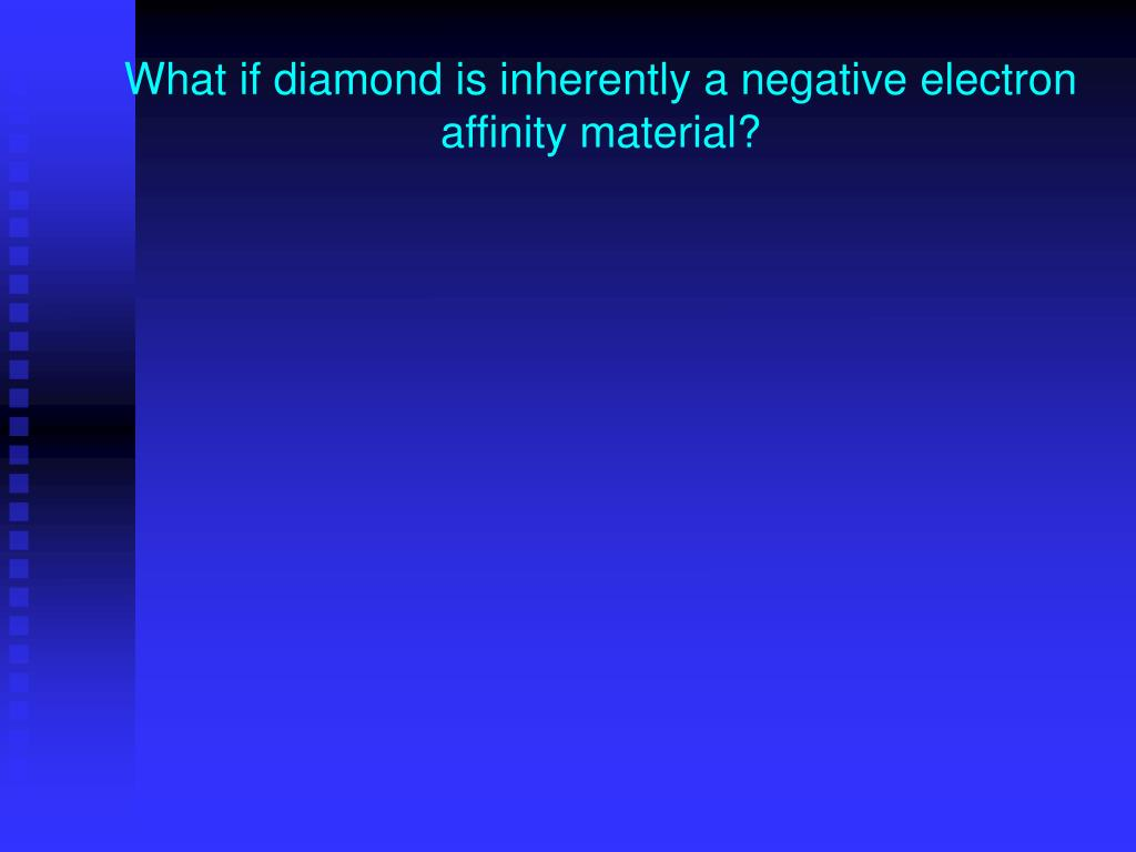 What if diamond is inherently a negative electron affinity material?