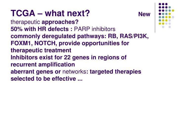TCGA – what next?