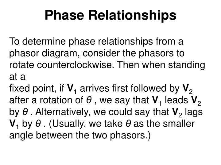 Phase Relationships