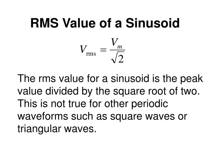 RMS Value of a Sinusoid
