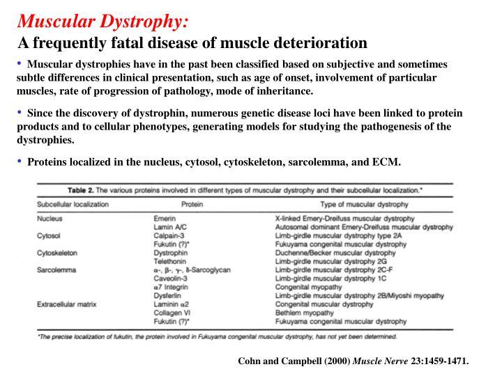 Muscular Dystrophy: