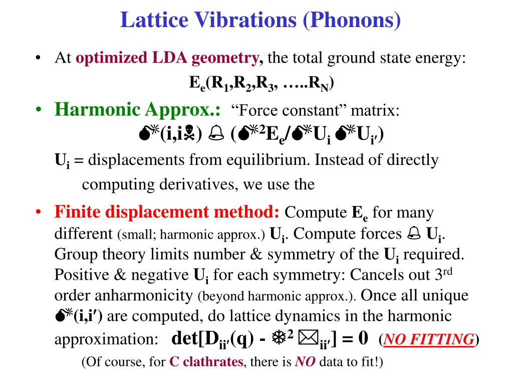 Lattice Vibrations (Phonons)