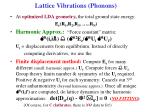 lattice vibrations phonons