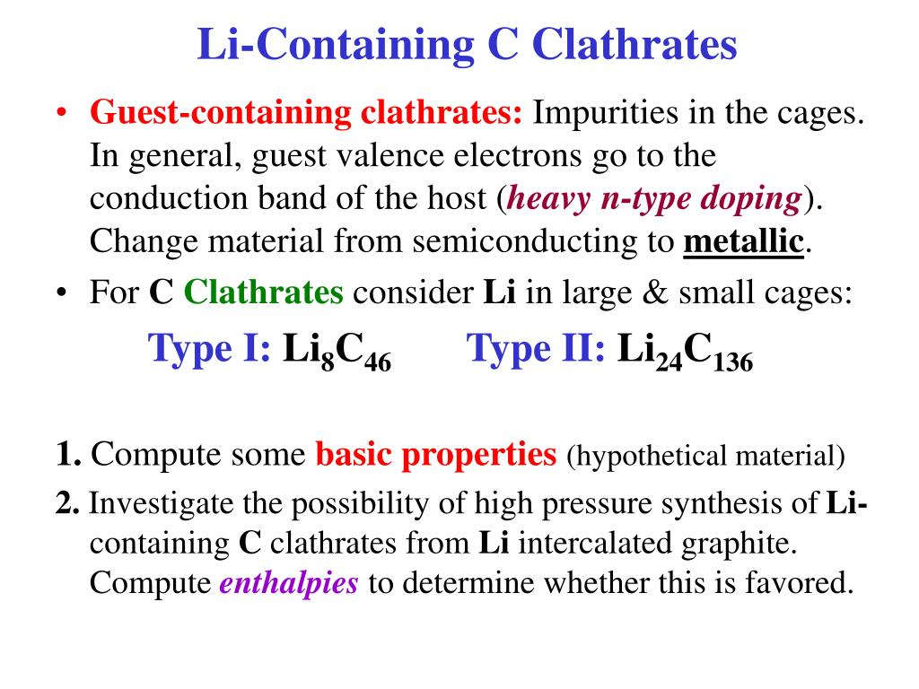 Li-Containing C Clathrates