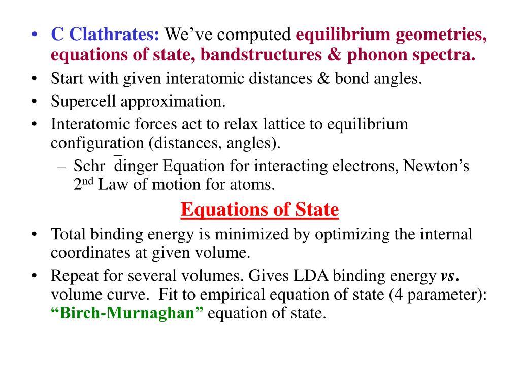 C Clathrates: