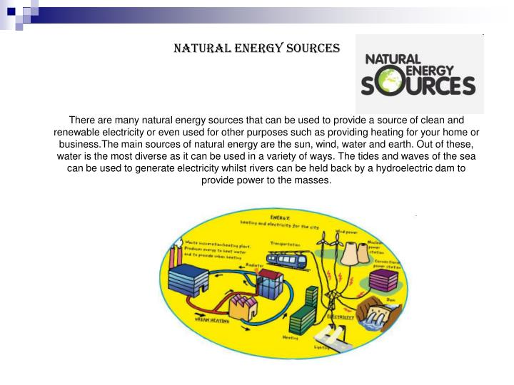 Natural Energy Sources