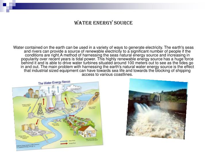 Water Energy Source