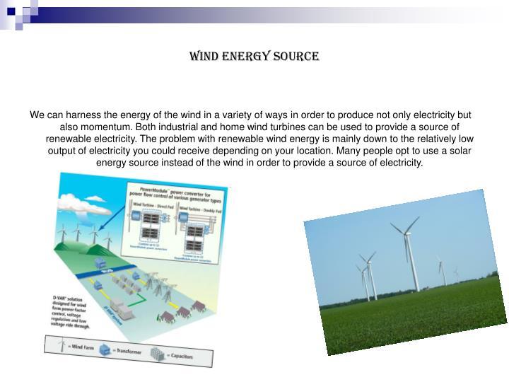 Wind Energy Source