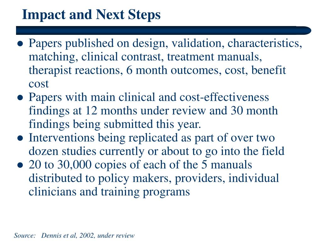Impact and Next Steps