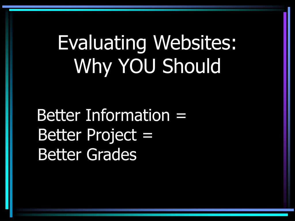 Evaluating Websites: