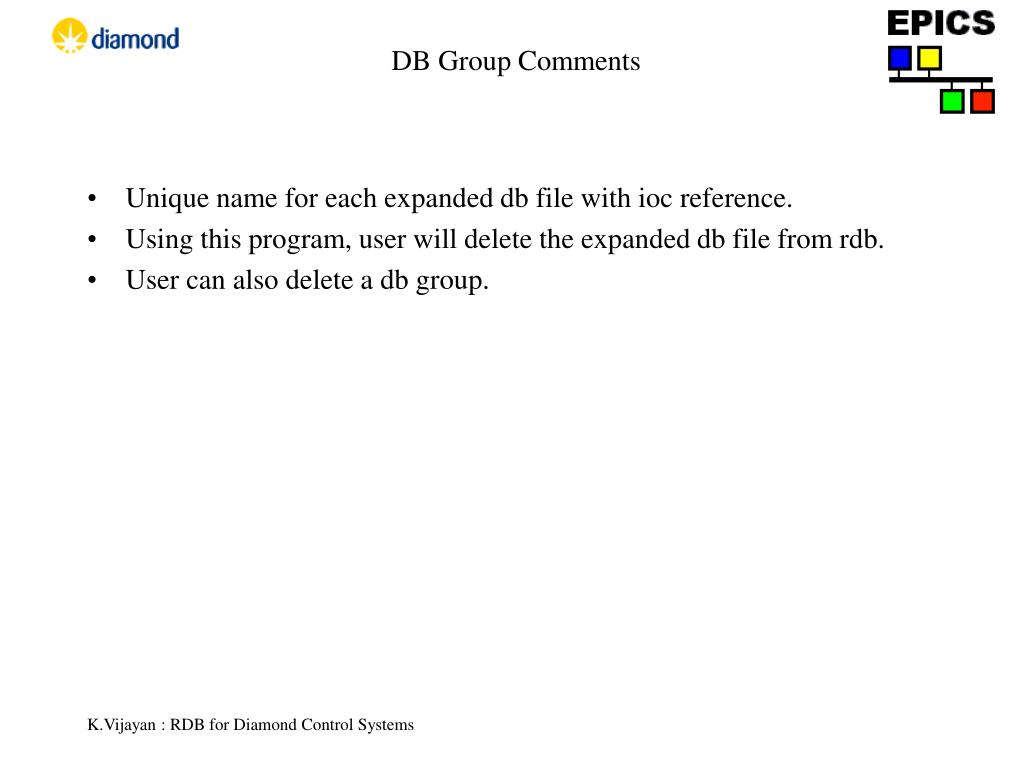 DB Group Comments