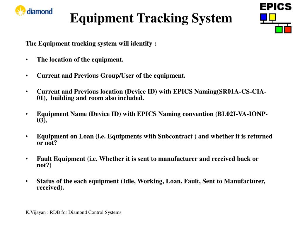 Equipment Tracking System