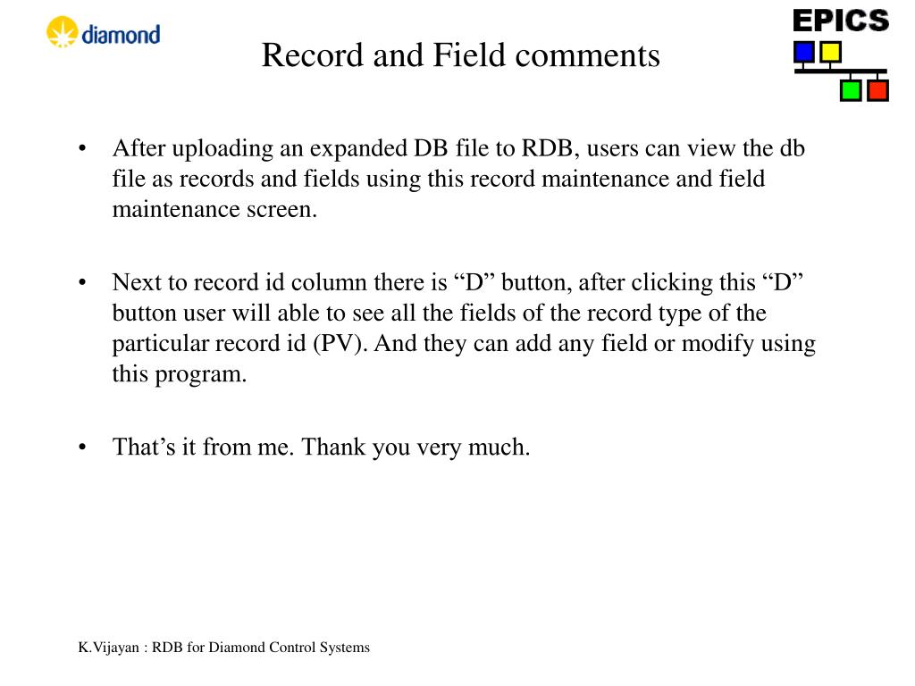 Record and Field comments