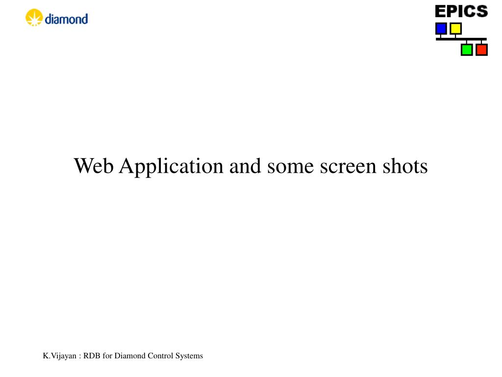Web Application and some screen shots