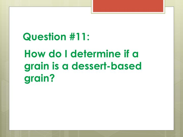 Question #11: