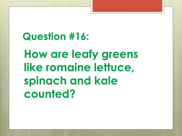 Question #16: