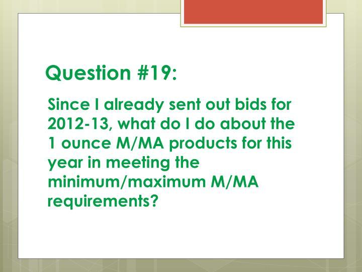 Question #19: