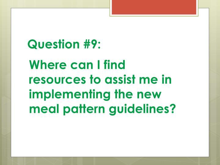 Question #9: