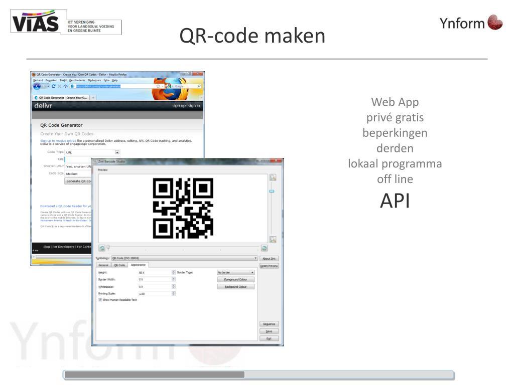 QR-code maken