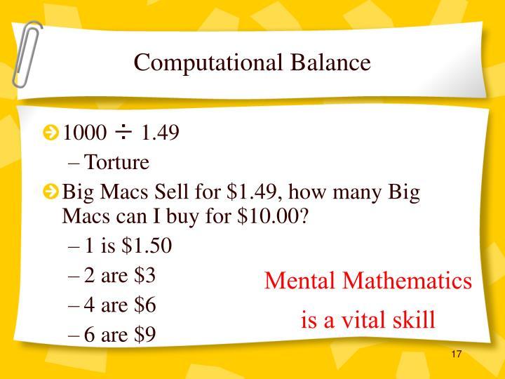 Computational Balance