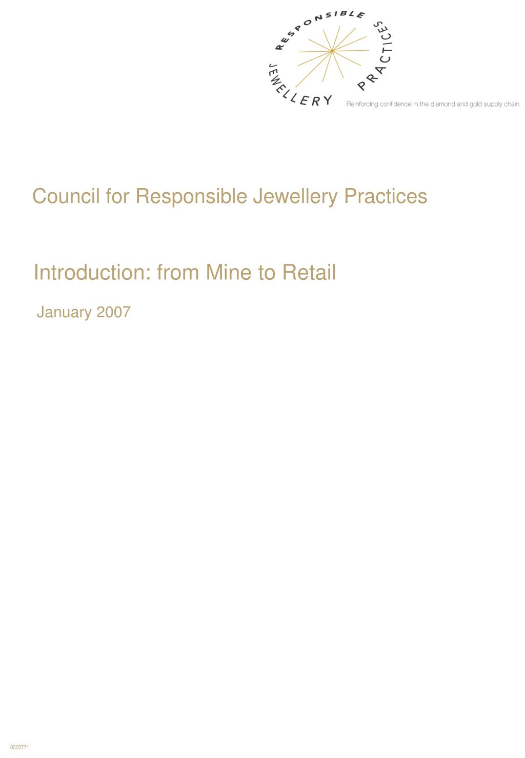 Council for Responsible Jewellery Practices