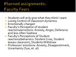 planned assignments faculty fears1