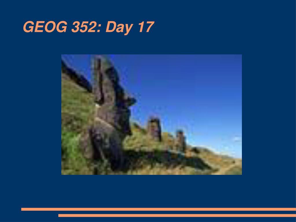 GEOG 352: Day 17