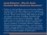 jared diamond why do some societies make disastrous decisions10