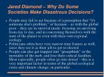 jared diamond why do some societies make disastrous decisions9
