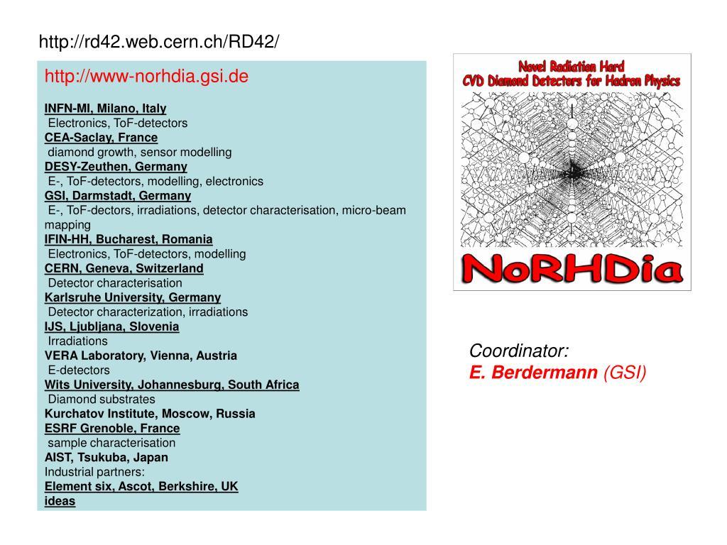 http://rd42.web.cern.ch/RD42/