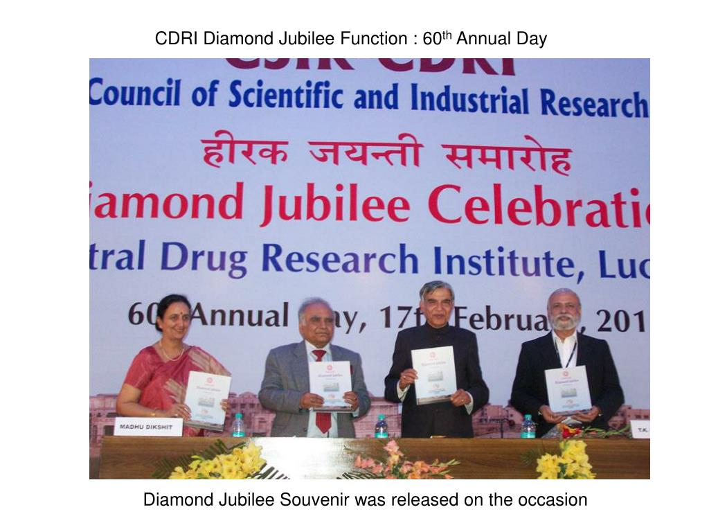 CDRI Diamond Jubilee Function : 60