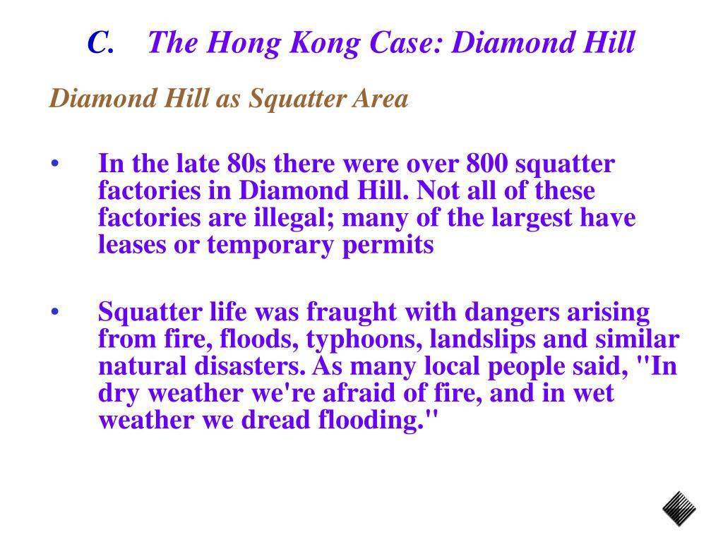 The Hong Kong Case: Diamond Hill