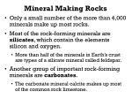 mineral making rocks