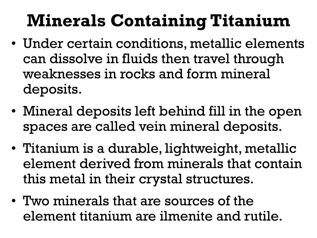 Minerals Containing Titanium