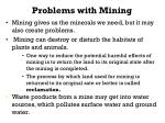 problems with mining