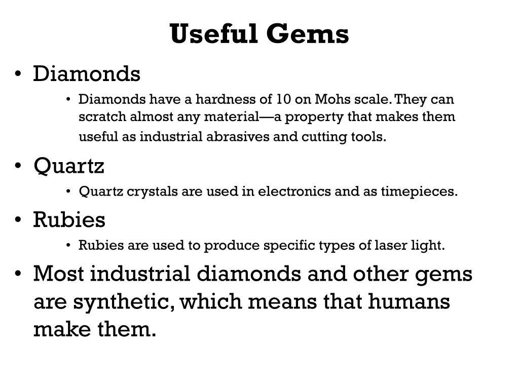 Useful Gems