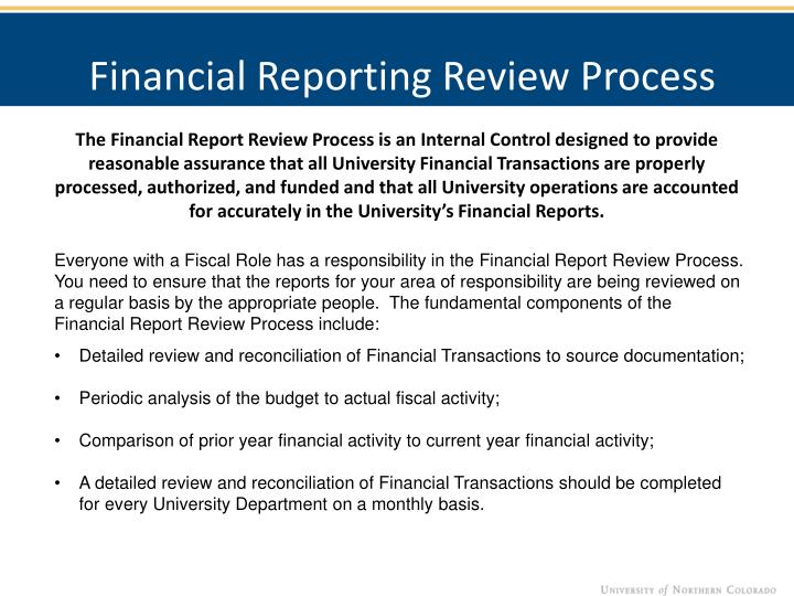 Financial Reporting Review Process