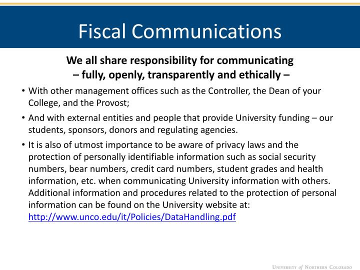 Fiscal Communications