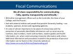 fiscal communications