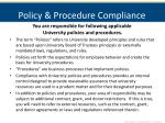 policy procedure compliance