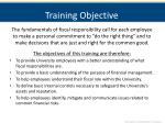 training objective