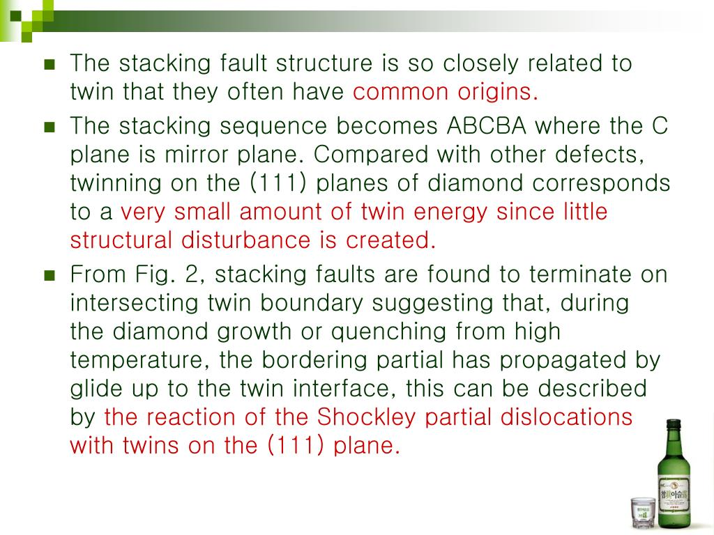 The stacking fault structure is so closely related to twin that they often have