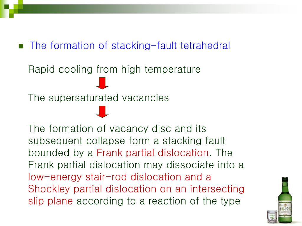 The formation of stacking-fault tetrahedral