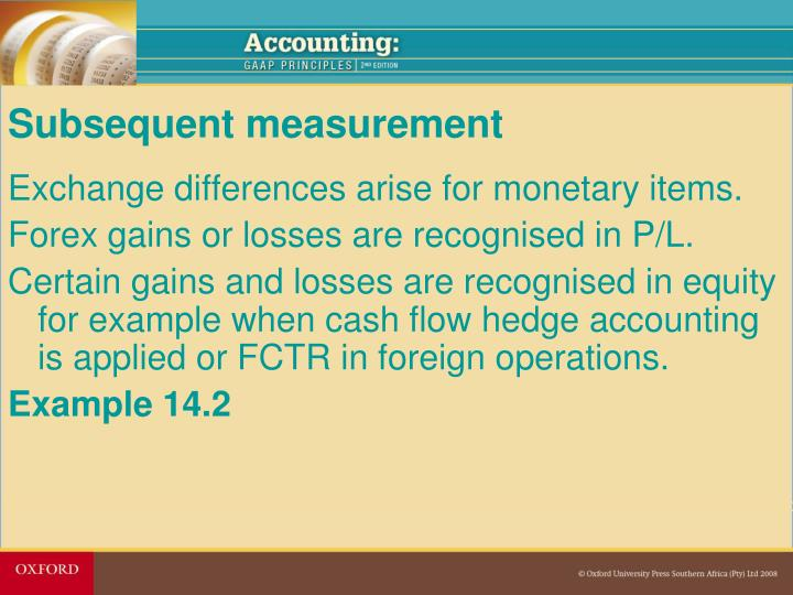 Forex hedge accounting example