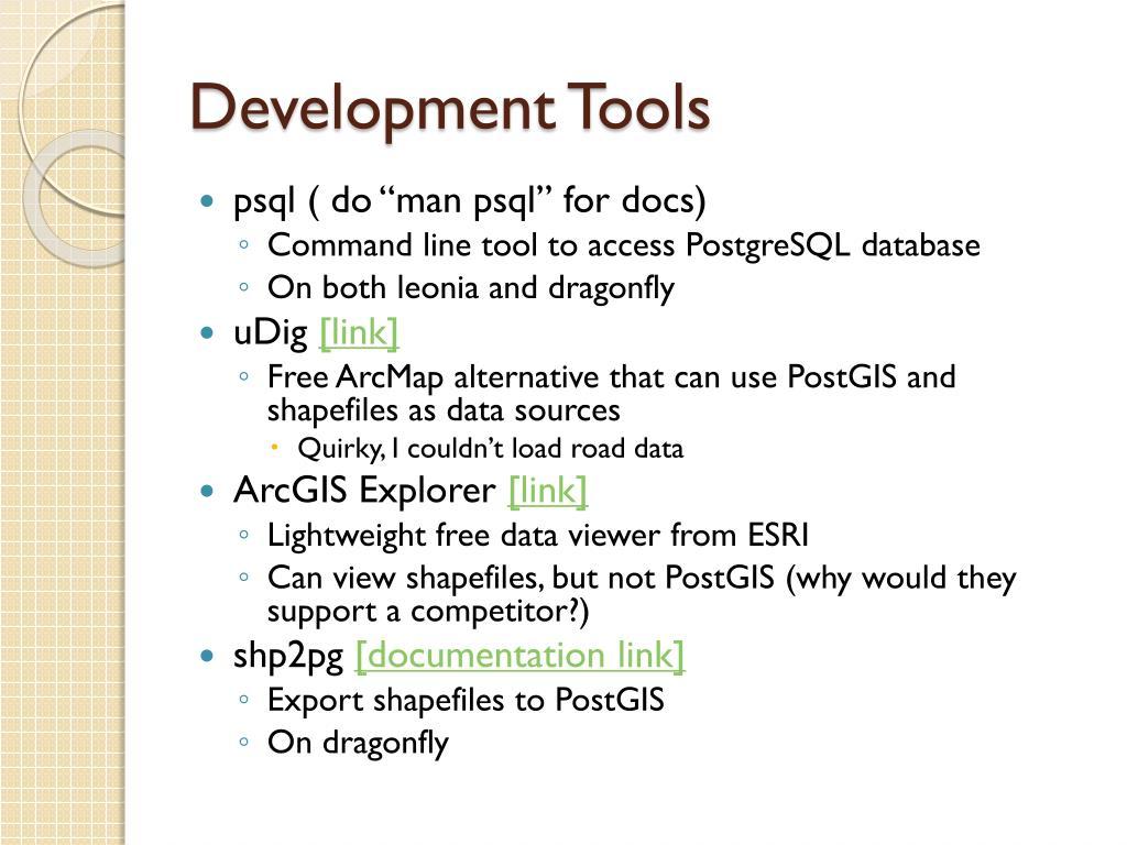 Development Tools