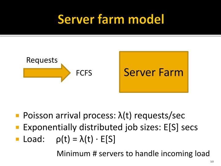 Server farm model