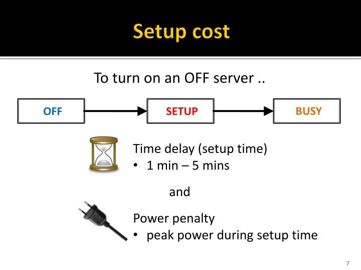 Setup cost