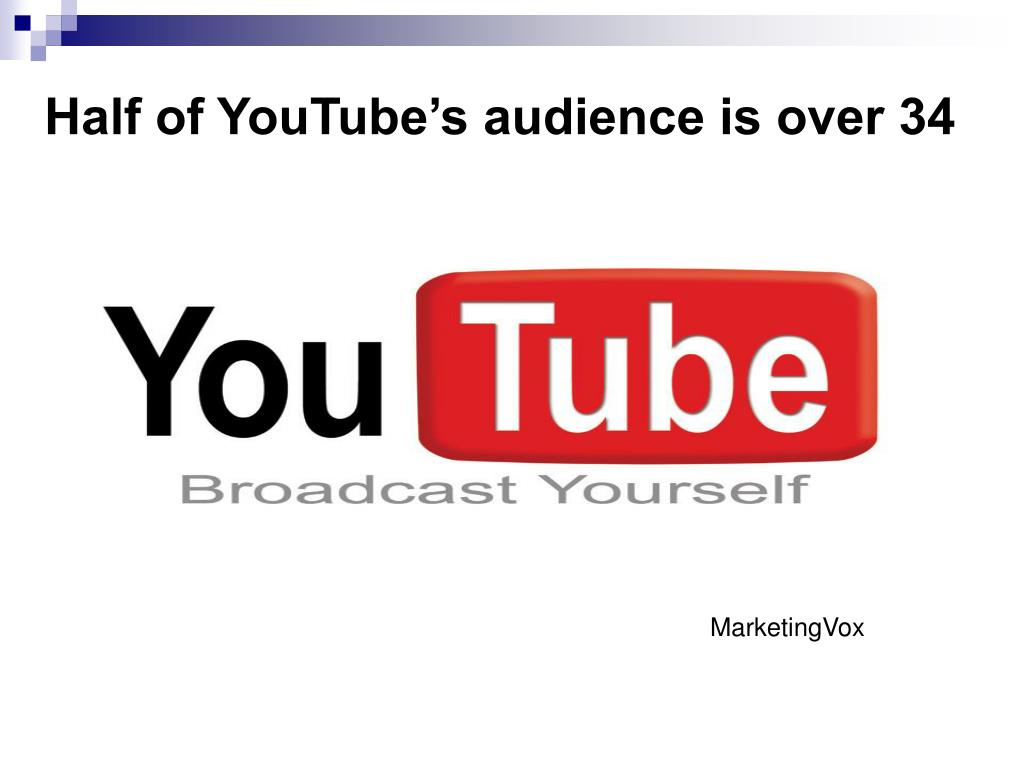 Half of YouTube's audience is over 34